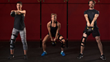 Kettleball lifting is easier with knee brace