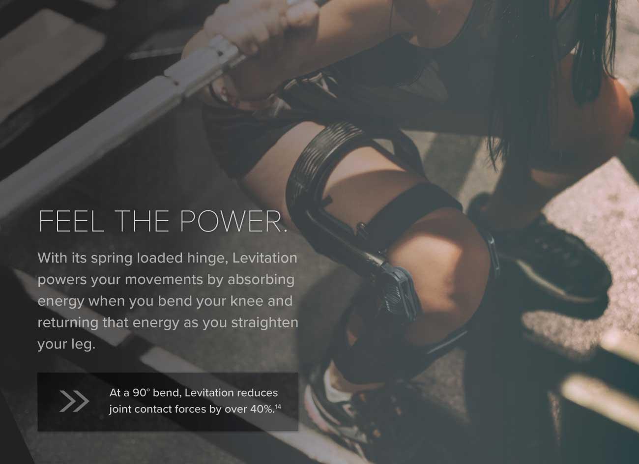 knee extension assist hinge powers the knee
