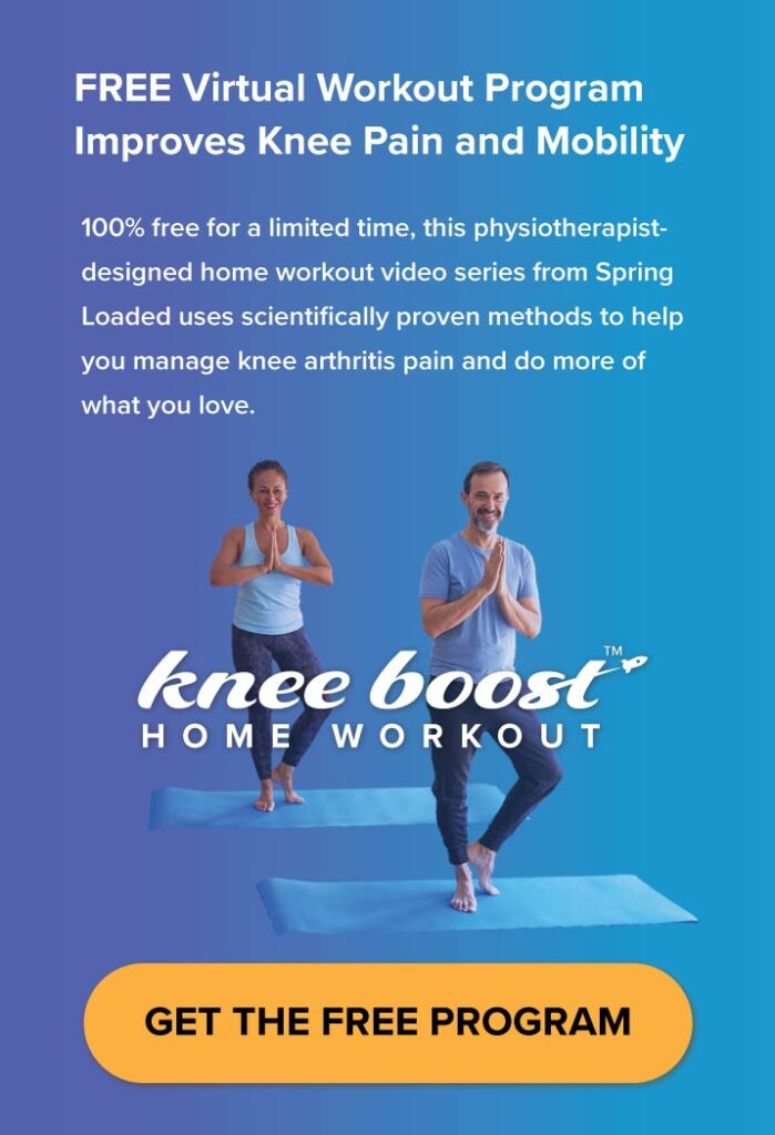 knee boost is a free home workout program for knee arthritis