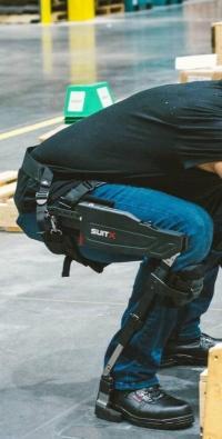 A worker wearing a legX exoskeleton